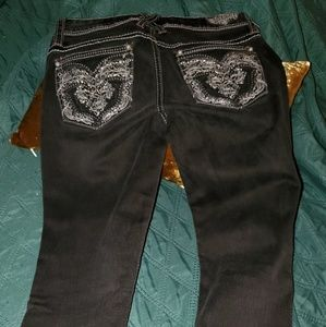 HYDRAULIC BLACK BAILEY SUPER SKINNY JEANS